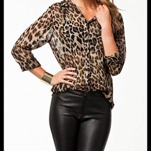 The limited Leopard Sheer Blouse ✅Offers accepted